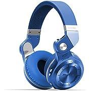 Bluedio T2S (Turbine 2 Shooting Brake) Bluetooth Stereo Headphones Wireless Headphones Bluetooth 5.0 Headset on the Ear headphones Gift Package (Blue)