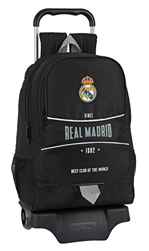 Safta Mochila Escolar con Carro de Real Madrid  330x150x430mm  Multicolor