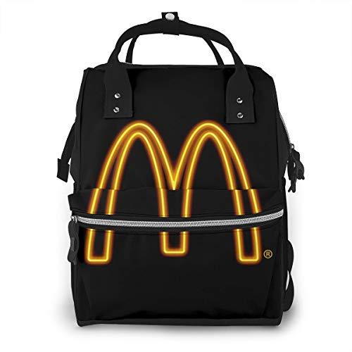 Jujupasg-Mochila Para Pañales Para Bebés, Bolsas De Viaje Multifunción, Mochilas Escolares De Gran Capacidad, Diseño Personalizado Impermeable Y Casual-Logotipo de McDonald