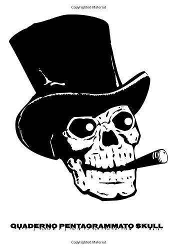 Quaderno pentagrammato Skull: Quaderno per Solfeggio, Composizione Musicale, Teoria Musicale (Skulls, Band 1)
