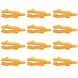 TRIWONDER Clips de Lona 12 Pcs Ligero Pequeño Ganchos de Clip Pinza de Cocodrilo Abrazaderas para Tienda de Campaña Toldo (Amarillo - 12 Pcs)