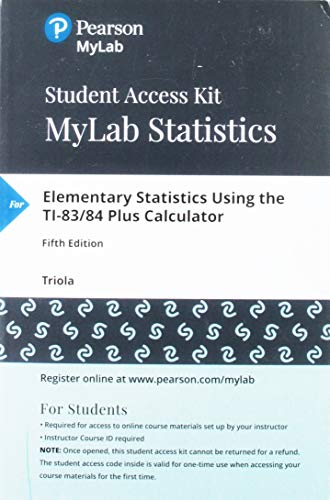 MyLab Statistics with Pearson eT...