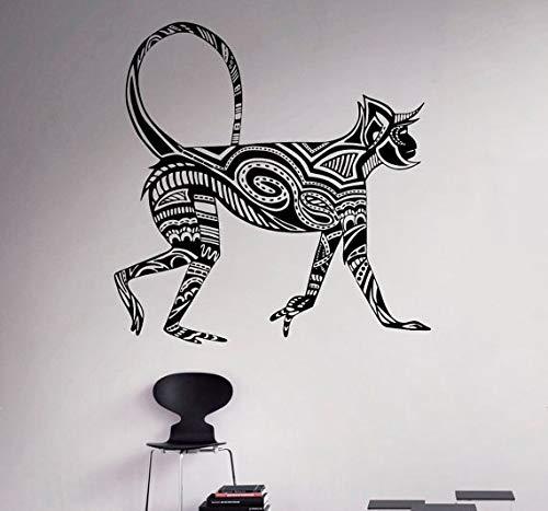 hetingyue wanddecoratie voor kantoor thuis, vinyl, zelfklevend, kort, aap, motief muurschildering, dierserie