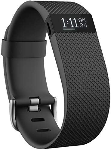 Charge_HR Wrist Band Activity Tracker Smart Watch Black Heart Rate Large,Fit.Bit.Charge.HR Wireless Activity Wristband,Black, Large (6.2-7.6 in)