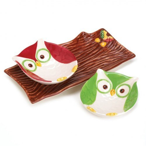Smart Living Company Home decor Holiday Hoot Snack Plates