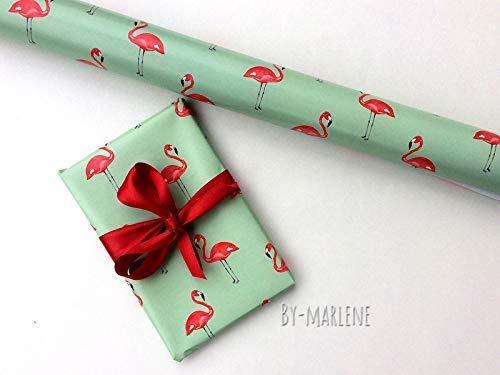 6 er Set Geschenkpapier Flamingo