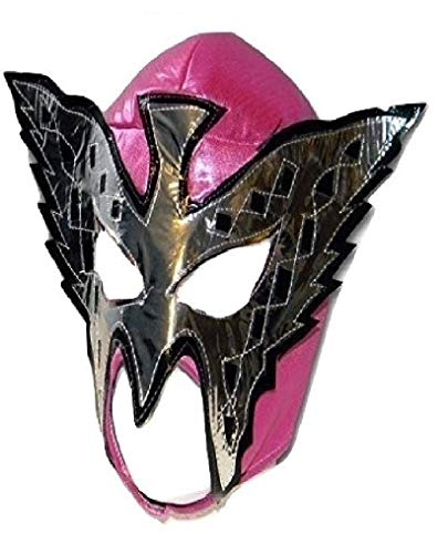 WRESTLING MASKS UK Women's Butterfly Wrestling Lucha Libre Mexican Mask One Size Pink