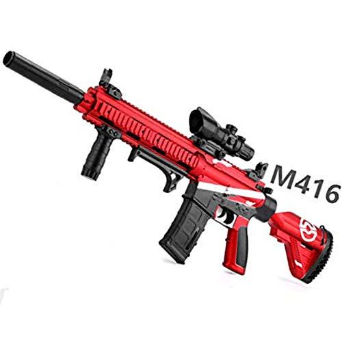 AFF M416 Pistola de Balas de Agua Juguetes al Aire Libre para niños Rifle de plástico Juegos de Paintball Suave Pistolas de Juguete para niños al Aire Libre,Rojo