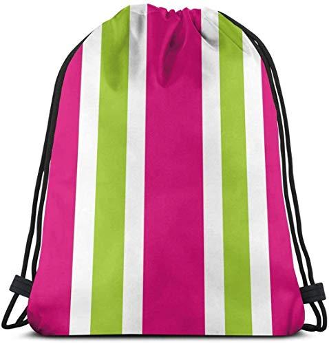 Bolsa de yoga rosa verde rayas mochila con cordón gimnasio danza bolsas para niñas niños bolsa de hombro bolsas de viaje regalo de cumpleaños para hija niños mujeres