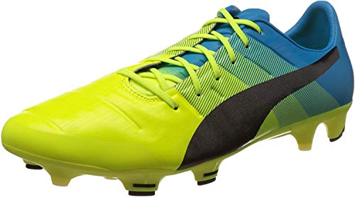 Puma Herren evoPOWER 1.3 FG Fußballschuhe, Gelb (safety yellow-black-atomic blue 01), 43 EU