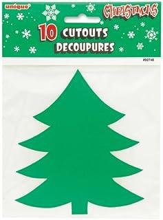 Figuras de peueños árboles de navidad de 13 cm - 10 por pauete