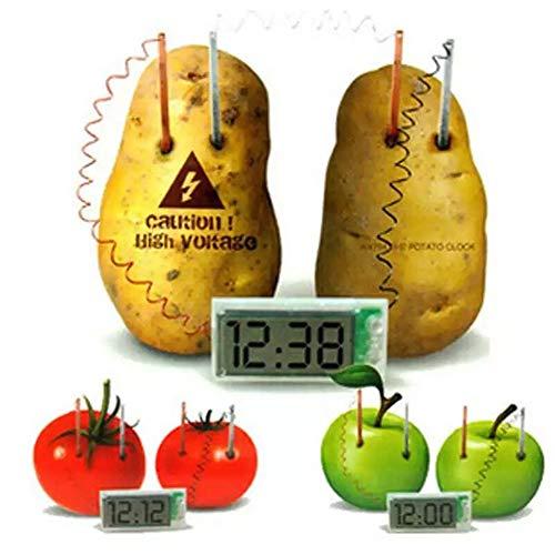 Kenyaw Horloge De Pomme De Terre Voyage Réveil, Réveil Numérique, Horloge Numérique, Enfants Jouets Éducatifs Créatifs Horloge De Pomme De Terre Protection De l'environnement Bricolage
