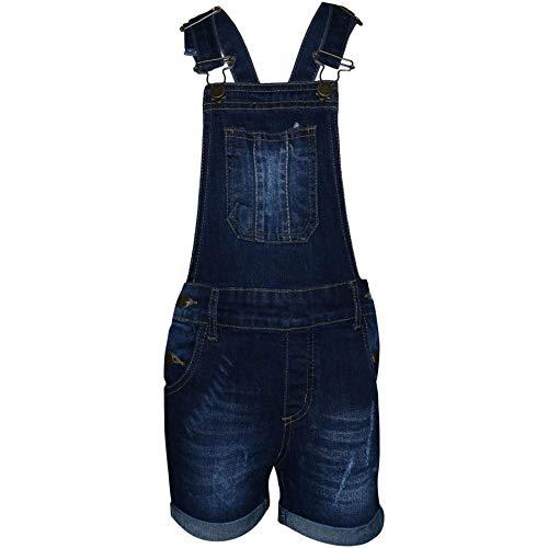 A2Z 4 Kids Kinder Mädchen Latzhose Kurze Hose Dunkel Blau Designer - Shorts Dungaree D77 Dark Blue_ 11-12