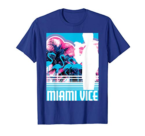 Miami Vice Neon Poster T-shirt for Men, Women, S to 3XL