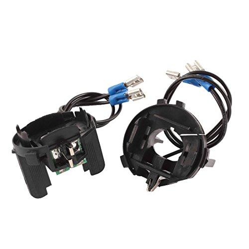 sourcing map 2 pcs H7 Xenon HID Ampoule projecteur Adaptateur conversion support pour golf 7