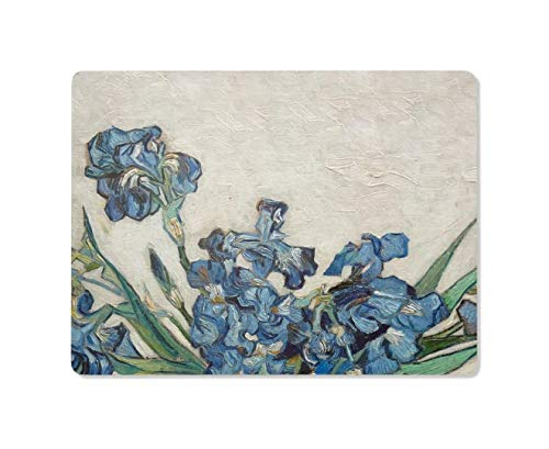 Cork Placemats Cork Backed Placemats Hard Placemats Table Mats Wipe Clean Gardening Gifts Botanical Floral Van Gogh Iris 12' x 15.5' Set of 4