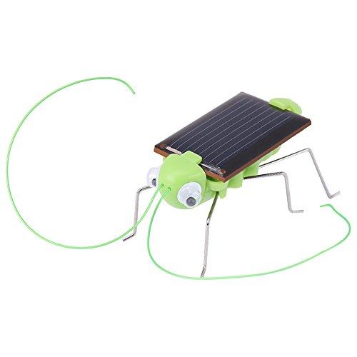 Juguete de Insecto Solar, 1ocs Mini Robot de energía Solar Cucaracha Robot / Saltamontes Simulación educativa Insecto Juguetes de Regalo para niño(Saltamontes)