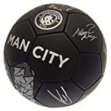 Manchester City FC Phantom Signature Soccer Ball (One Size) (Black)