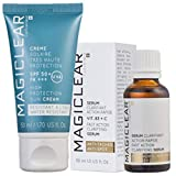 Luxury Dark spot remover corrector Serum and 100% daily Sunscreen SPF 50 - Anti spot -Anti pigmentation and Anti wrinkles - Anti aging Best Swiss brand Magiclear 100% result