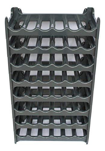 ARTECSIS Cantinetta Portabottiglie in Plastica Modulare 48 Bottiglie Antracite