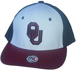Oklahoma Sooners Size Medium / Large Flex Fit Hat NCAA Authentic Cap - Best Fits 7 1/8 Through 7 5/8