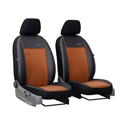 Universele stoelhoezen Bus 1 + 1 stoelbekleding voorstoelen autostoel bekleding bruin