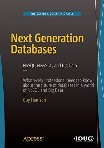 Next Generation Databases: NoSQLand Big Data