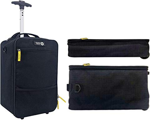 Underseat 2-Wheel 40x20x25cm Carry On Cabin Luggage Suitcase. Approved for Ryanair Small Bag Non-Priority and All Major Airlines