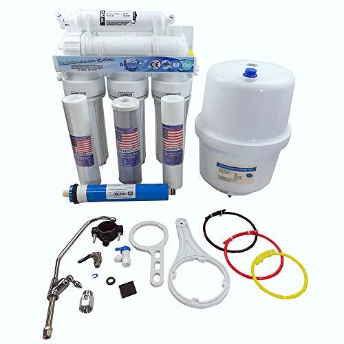 5 Stufen Umkehrosmoseanlage R.O.S. von Aquintos - 8 Liter Tank - Trinkwasserfilter - Reserve Osmosis | Ohne BPA | NSF zertifiziert