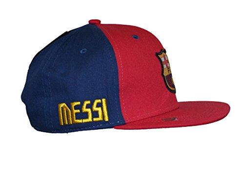 Rhinox Fc Barcelona Snapback Messi Cap Hat Adults (Maroon - Blue)