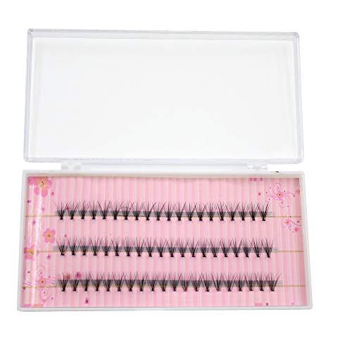 60pcs cils individuels de maquillage de groupe professionnel cils greffant de faux faux cils (Taille : 6mm)