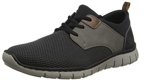 Rieker Herren B8764-43 Sneaker, Grau (Grau-Schwarz/Polvere/Mogano/Schwarz/Schwarz 43), 42 EU