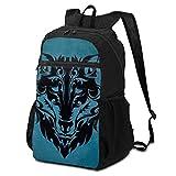 Wolf Tattoos Tribal Tattoos Mochila de viaje al aire libre para hombres y mujeres, plegable, ligera, impermeable, gran capacidad