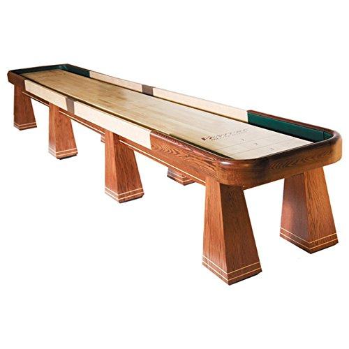 Saratoga Shuffleboard Table  Gaming Board with Playing Accessories  Gameroom Furniture  Wood Game Table - 12 & Poplar