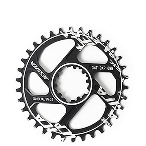 MENGGOO CAILING GXP Cadena de Bicicleta de la Bicicleta de Ancho Estrecha de Caining 6mm 32T / 34T / 36T / 38T para Fit for SRAM XX1 X9 XO X01 Piezas de Bicicleta XO X01 (Color : 34T)