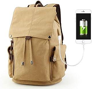 Dengyujiaasj Backpack, Men's Backpack Vintage Canvas Backpack School Bag Men's Travel Bags Gravid Capacity Travel Laptop B...