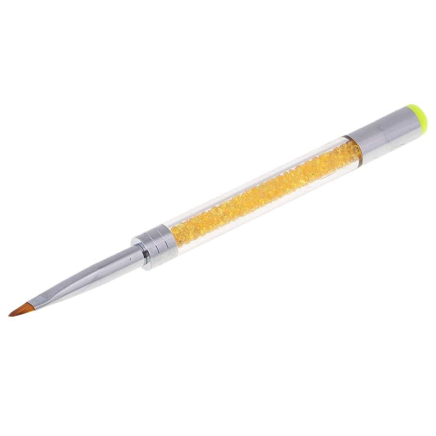 横たわる社会シンプルさPerfeclan ネイルアートペン ネイルアート ライナー ブラシ UVジェル 塗装 ネイルブラシ ダイヤモンドハンドルペン 5色選べ - オレンジ