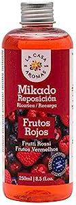 H HANSEL HOME Mikado Reposicion 250 Ml Sin Varillas (Frutos Rojos, 1 Pc)