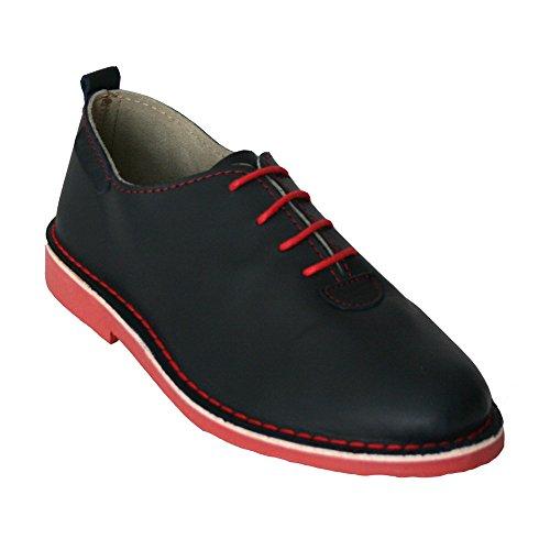 K533 - Zapato Piel Cuero Azul Marino (44)