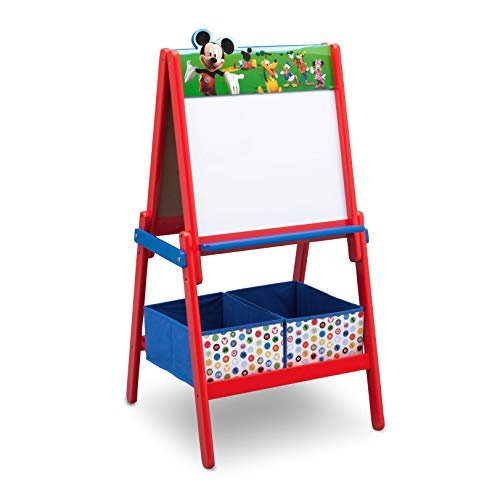 Delta Children te87509 mm Mickey Mouse double-sided Easel Wood Red/Blue 115,70 x 55.88 x 55.88 cm)