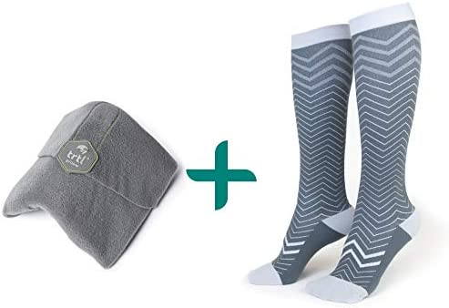 trtl Pillow Trtl Socks Bundle Scientifically Proven Super Soft Neck Support Travel Pillow Trtl product image