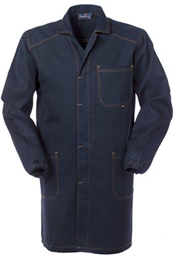 SERIO PLUS + Camice Uomo da Tecnico O Officina Generica Blu Scuro Tessuto Robusto A60109 (L)