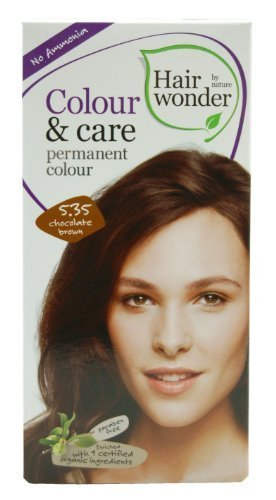 Colour and Care- 5.35 Chocolate Brown 3.50 Ounces by Hair Wonder by Nature