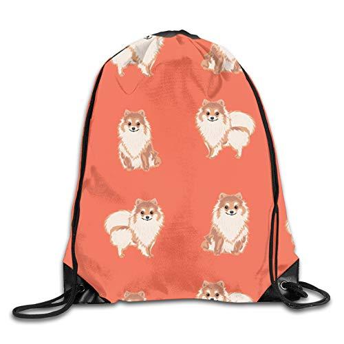 Nother Pomeranian Dog Pomeranian - Bolsa de hombro con cordón de repetición, color naranja