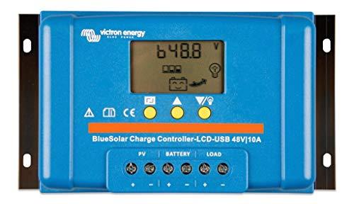 Victron Energy - Regulador solar PWM 10A LCD & USB – 48 V