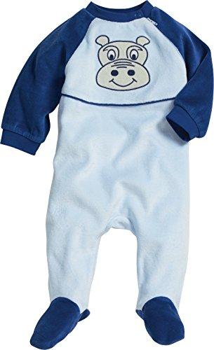 Playshoes Schlafoverall Nicki Hippo Pyjama, Bleu (Original 900), 62 Mixte bébé