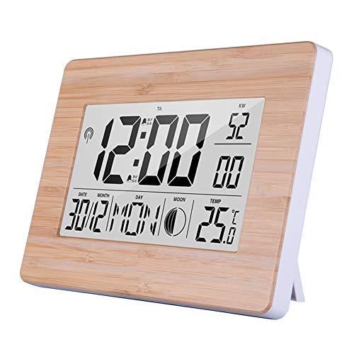 Xfc Multifunctionele Weerstation Kleur Groot Beeldscherm, Hygrometer Monitor Gauge, Digitale Alarm LCD Display Alarm Klok Weersverwachting