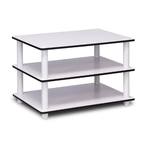 Furinno Table Basse 3 Outils, Bois, Blanc, Taille Unique, White/White, 39,6 x 59,9 x 39,6 cm