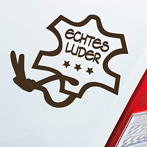 Auto Aufkleber in deiner Wunschfarbe Echtes Luder Anhänger Tuning Sex Dub OEM 12x10 cm Autoaufkleber Sticker Folie