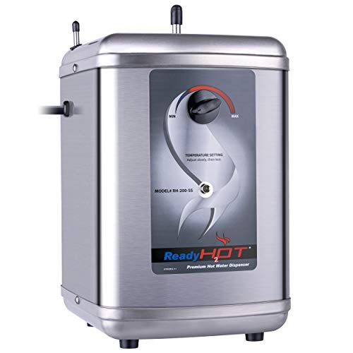 Ready Hot 40-RH-200-SS Instant Hot Water Dispenser System, 2.5 Quarts Manual Dial Tank Only, Stainless Steel